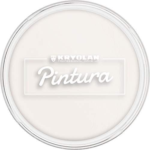 Kryolan Pintura Clown Weiß 20 g, Cremeschminke, Hohe Deckkraft - ideal für Kinderschminke, Party, Karneval, Fasching, Theaterschminke, Halloween, LARP & Make-up Artists