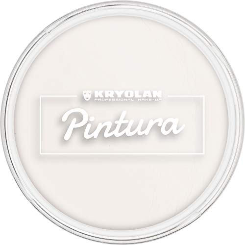 Kryolan Pintura Clown Weiß 20 g, Cremeschminke, Hohe Deckkraft - ideal für Kinderschminke, Party, Karneval, Fasching, Theaterschminke, Halloween, LARP & Make-up Artists