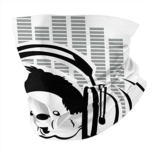 NA Unisex Schal elektronische Musik Monchichi Stirnband Bandana Magic Stirnband elastisch nahtlos Sturmhaube Kopftuch
