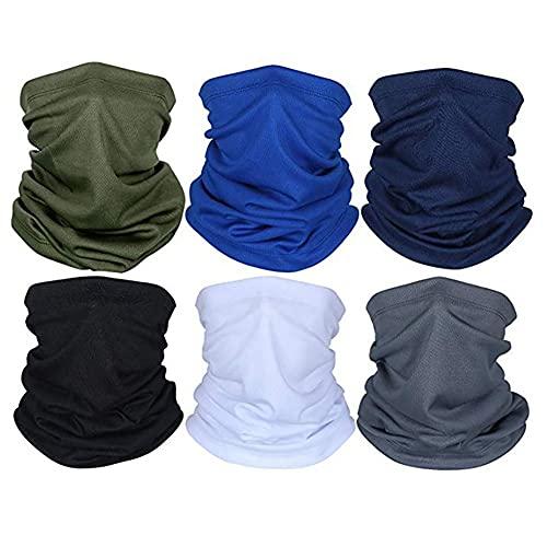 Máscara Facial Impresa Multi-Funcional Sombrilla de Sol de Color sólido a Prueba de Polvo Pulsera para el Cabello pañuelo de la Cabeza Bufanda Ropa al Aire lib