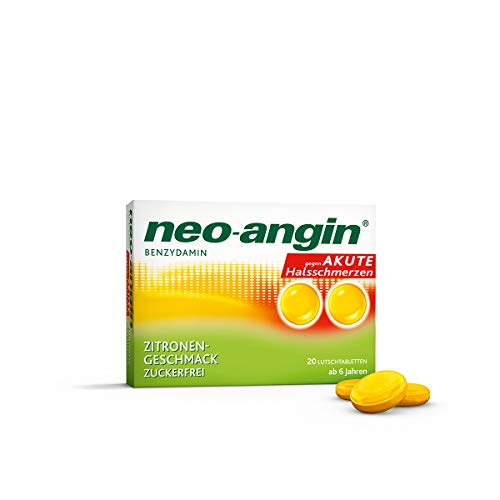 neo-angin Benzydamin Zitronengeschmack Lutschtabletten, 20 St. Tabletten