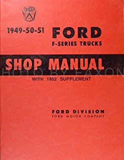 1949-52 Ford Truck Service Shop Repair Manual (with Decal)