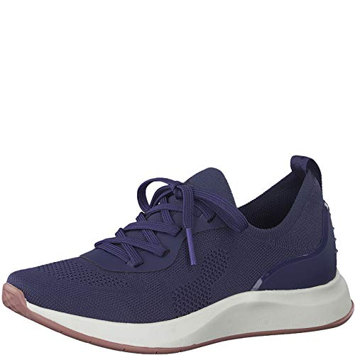 Tamaris Mujer Zapatos con Cordones, señora Zapatos Deportivos con Cordones,Calzado de Exterior,Deportivo,de Moda,Ocio,Ocean,42 EU / 8 UK