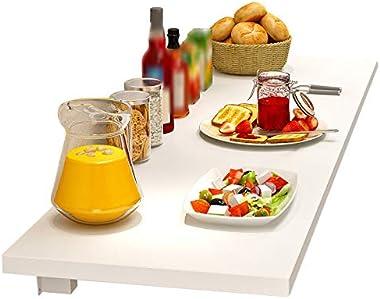 Table Pliante Flottante Murale, Belle Et Pratique, Gain De Place, Adaptée Au Bureau À Domicile, Au Bar, À La Cuisine, Au Balc