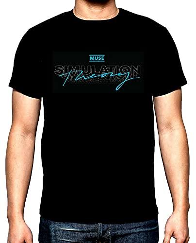 Muse,Simulation Theory,Men's t-Shirt,New,100% Cotton,Blacks Black 3XL