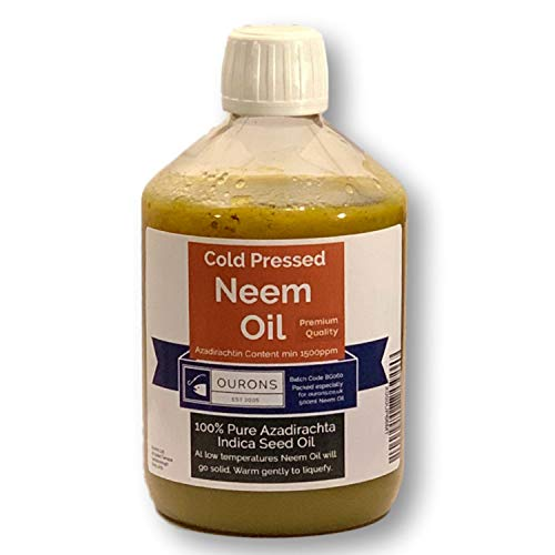 Neem Oil - 500ml Pure Cold Pressed Premium Seed Oil From India