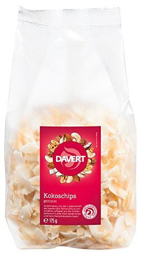 Davert Kokoschips geröstet, 6er Pack (6 x 175 g) - Bio