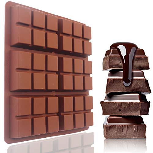 Chocolate Bar Molds, Standard-Sized Break Apart Candy