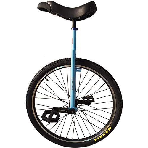 HWF Monociclo 29' Monociclo da Addestramento per Adulti - Blu, Monociclo a Ruota Grande per Adulti Unisex/Bambini Grandi/Mamma/papà/Persone Alte Altezza da 160 a 195 cm (63' - 77'), Caricare 150 K