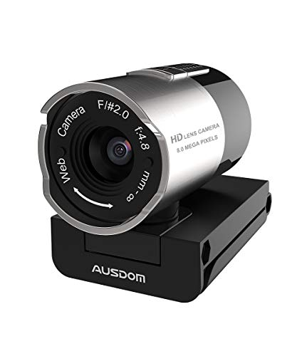 AUSDOM AW335 Webcam 1080P Full HD with Microphone, Wide Angle USB Web PC Cam for Video Chat/Recording on YouTube/Skype, Compatible with Windows 7/8 / 10 /XP/Chrome/Mac OS