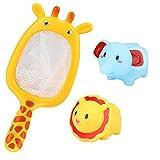 Fliyeong – Juguete niños de 1 2 3 4 5 6 7 8 9 + años de Edad, para el baño de bebés, de Goma Suave, para Animales, bañera, Juguete, salpica, Juego de 3 Piezas