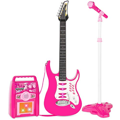 Best Choice Products Kids Electric Guitar Play Set w/ Whammy...