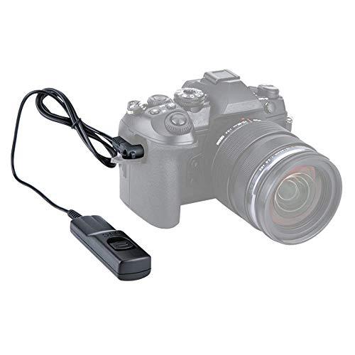 JJC Fernauslöser mit Kabel, für spiegellose Olympus MFT-Systemkamera OM-D E-M1 Mark II, OM-D E-M1X - ähnlich Original-Olympus-Auslösekabel RM-CB2