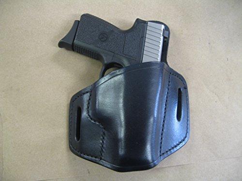 Kahr CT9 CW9 CM9 PM9 Leather 2 Slot Molded Pancake Belt Holster - Black