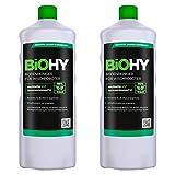 BiOHY Bodenreiniger für Wischroboter (2x1l Flasche) | Konzentrat für alle Wisch & Saugroboter mit Nass-Funktion | nachhaltig & ökologisch