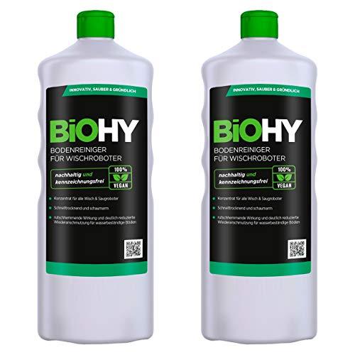 BiOHY Limpiador pisos para robots limpiadores (2 botellas de