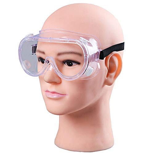 Buy Discount CHENTAOCS New Fully Enclosed PC Clear Lens Safety Goggles Splash Proof Outdoor Anti-Sne...