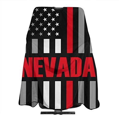 Nevada USA - Capa fina con bandera roja para cortar el pelo, para peluquería o peluquería, accesorio unisex