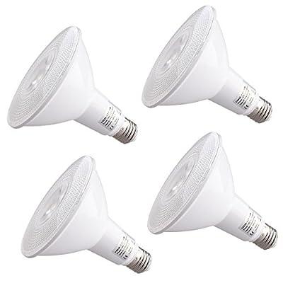 4 Pack PAR30 LED Bulb, 18w Dimmable Flood Light Bulb, 150w Halogen Bulb Equivalent, 1300 Lumen 3000K Indoor/Outdoor UL Listed