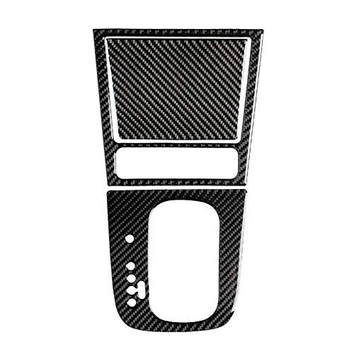 Auto Carbon Faser Getriebe Aufkleber, 3Pcs Getriebe Panel Aufkleber Carbon-Faser-Aufkleber Rahmen Auto Carbon Faser Dekor Auto Dekoration Innenraum Kompatibel mit Golf 6 Mk6 GTI 2008-2012, Linkslenker