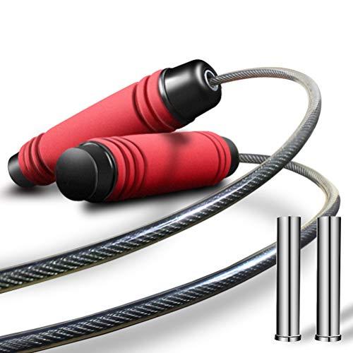 WMMDM Ajustable Cuerda de Saltar Salto, Velocidad de la Cuerda de Ejercicio aeróbico, Entrenamiento de Resistencia de Ejercicio físico Boxeo (Color : Red)