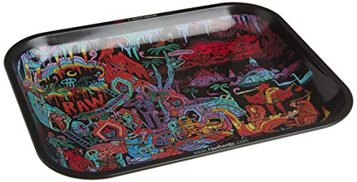 "RAW Artist Series: GHOST SHRIMP Metal Rolling Tray - Large 14"" x 11"""
