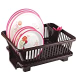 Ngel BS Plastic Kitchen Sink Dish Drainer - Drying Rack Washing Basket