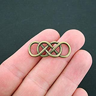 6 Celtic Knot Connector Charms Antique Bronze Tone Double Infinity DIY Crafting by Wholesale Charms