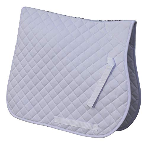 Rhinegold Tela Acolchada de algodón para Silla de Montar, Color Blanco