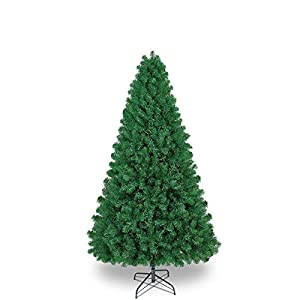SHareconn 6.5ft UnLit Premium Artificial Spruce Hinged Christmas Tree, Xmas Tree with 1198 Branches Tips and Metal Stand