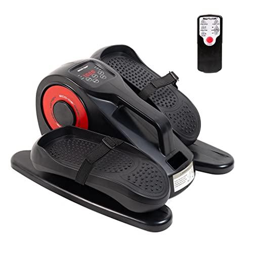 ECODE Mini Bike eliptica Desk Motion eléctrica, Pantalla LED, pedaleo con Asistencia, 20 Niveles, 5 Funciones, Mando Distancia ECO-804