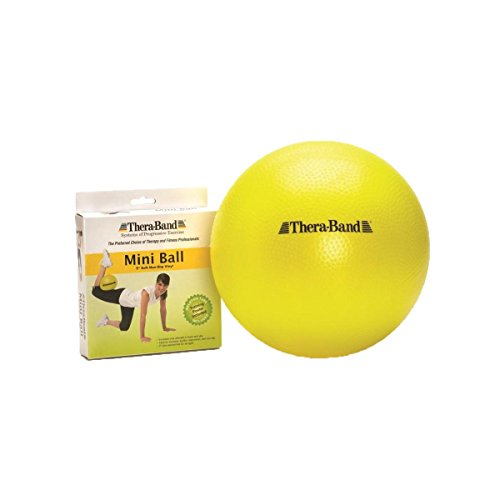 TheraBand Mini Ball, Small Exercise Ball for Yoga, Pilates, Abdominal Workouts, Shoulder Therapy, Core Strengthening, At-Home Gym & Physical Therapy Tool, New Version