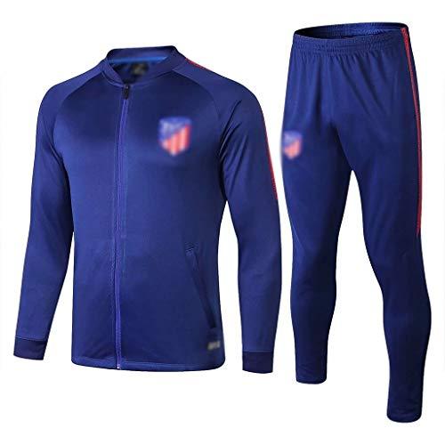 Big25cm Go! Fußballplatz!e Fiery Europa League!Fußball-Sport-Jacke beiläufiger Fußball Sportswear Anzug Männer Erwachsener Blauer gerade Fußball-Trainingsanzug (komfortabel) -bas0396