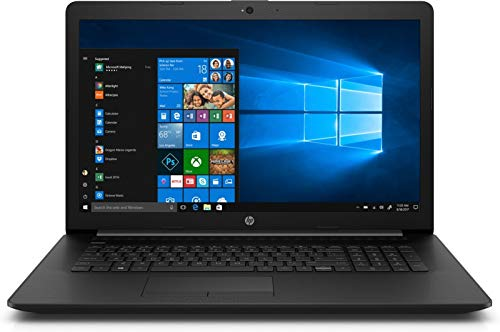 "2020 HP 17.3"" HD+ Premium Laptop Computer, AMD Ryzen 5 3500U Quad-Core Up to 3.7GHz, 12GB DDR4 RAM, 256GB SSD, DVDRW, AMD Radeon Vega 8, 802.11ac WiFi, Bluetooth 4.2, USB 3.1, HDMI, Black, Windows 10"