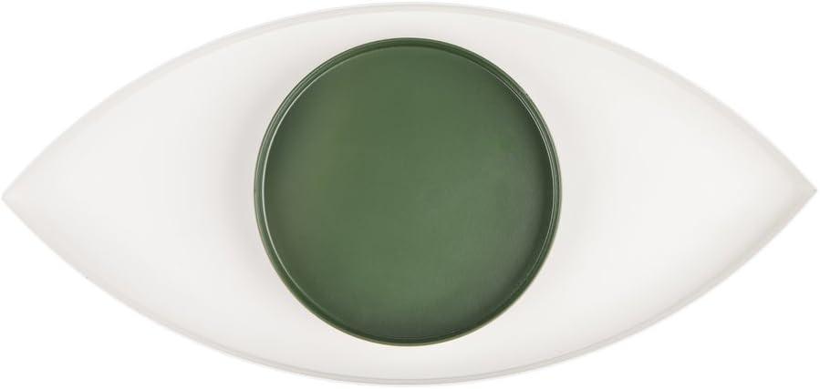 Doiy El Ojo Blanco y Verde, Acero, 34 x 19 x 20 cm
