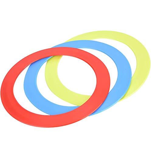 Keenso 3PCS/Set Anillos de plástico de carnaval Anillos de lanzamiento Diversión Target Toys para niños Juego de lanzamiento de anillo, Malabarismo Acrobacia Lanzamiento de anillo Lanzamiento