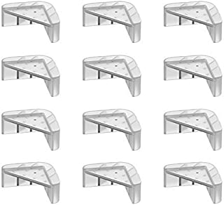 Protectores de esquina con diseño de doble estructura, a prueba de bebés, para esquinas de mesa, mantén a los niños seguros, protectores para muebles contra esquinas afiladas, 12 paquetes