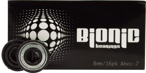Bionic Bearings - Bionic ABEC-7 Bearings - 8mm Bearings - 16 Pack by Bionic