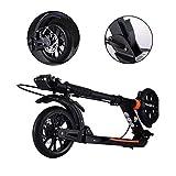 Faltbare Adult Scooter, Scheibenbremsen/höhenverstellbar / 2 Big Wheel, Easy Light Gewicht zu tragen, bis zu 150 kg, Nicht elektrisch
