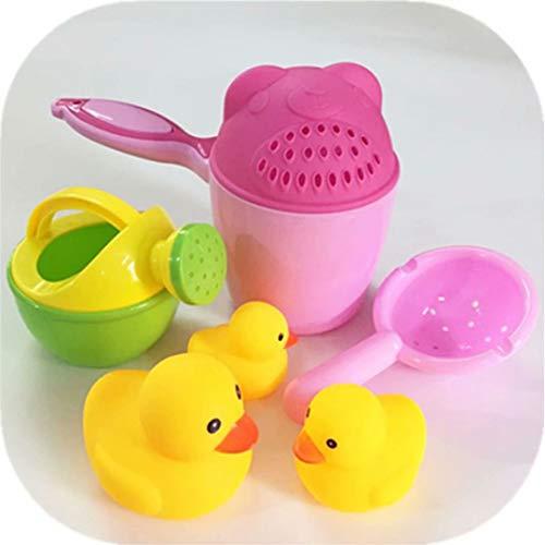 Juego de tazas de baño - Taza de enjuague de champú para bebé Recipiente de enjuague de baño Enjuague de champú Aspersor de ducha Cuchara Accesorios de baño para niños y niñas Bañera