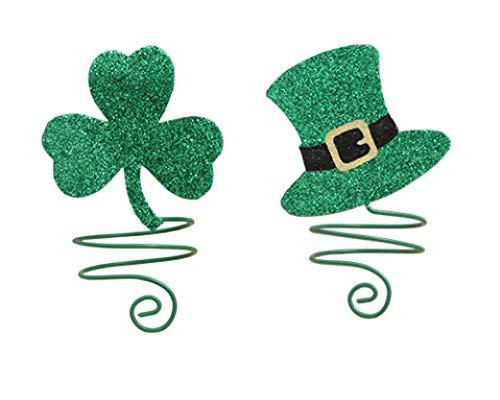 Bethany Lowe St Patricks Day Luck O The Irish Napkin Ring or Wine Bottle Adornment Set/2