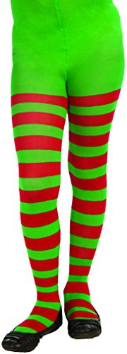 Forum Novelties Novelty Striped Christmas Tights, Child Large, One Color