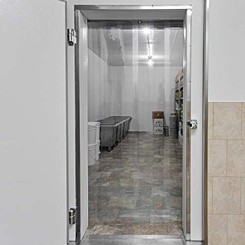 스트립 커튼 도어 키트 - 42 X 84 - 냉동고 상업 주방 단위 쿨러 룸 창고 출입구에서 도보를위한 클리어 PVC 비닐 스트립 세트
