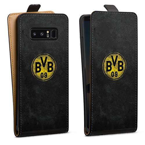 DeinDesign Tasche kompatibel mit Samsung Galaxy Note 8 Duos Flip Hülle Hülle Schwarz Borussia Dortm& BVB Fanartikel