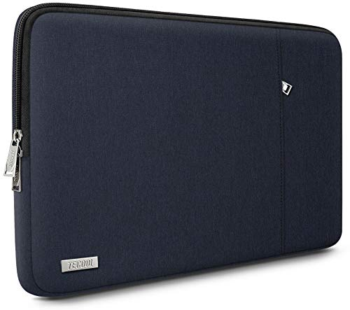 TECOOL Laptop Sleeve Case for 13 Inch MacBook Air/Pro, 13.5 Surface Laptop 3/2, 14'' Lenovo Flex 5/Yoga C740, 14 Inch ASUS Huawei Ultrabook Notebook Full Protective Cover, Dark Blue