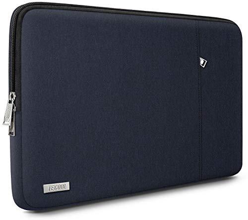 TECOOL Laptop Hülle Notebooktasche für 13 Zoll MacBook Air/Pro, 13,5 Surface Laptop 3/2, 14'' Lenovo Flex 5 / Yoga C740, 14 Zoll ASUS Huawei Ultrabook Kompletter Schutzhülle Sleeve, Dunkelblau