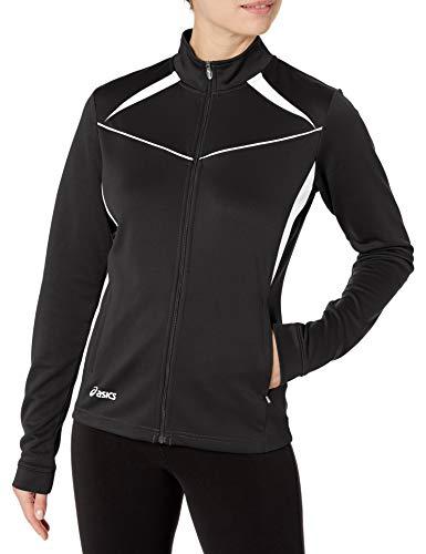 ASICS Women's Cali Jacket, Black/White, Small