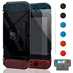 [New Design available]We have fixed all minor issues mentioned in some reviews:1.The buttons line up in the case.So you can press the L+R triggers.Joy-Cons can be removed while thin case is attached.2.You can dock the system with this case. No Need t...