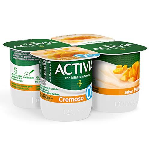 Activia Cremoso Sabor Mango 0% M.G. 4x120 g