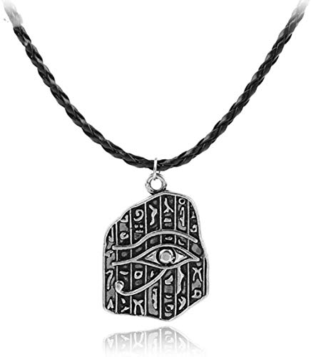 huangshuhua Vintage Antiguo Rah Egipto Ojo de Horus Egyptia Charms Collares Pendientes Joyería Joyería de cumpleaños